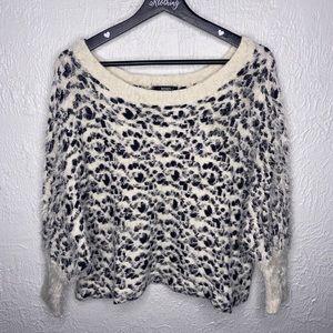 Xoxo Cropped Cheetah Print Sweater Top